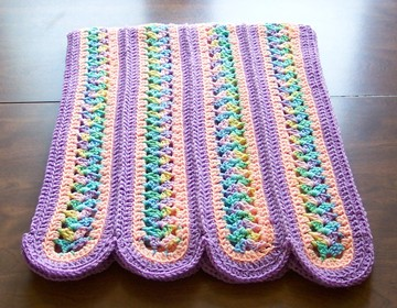 Mile A Minute Afghan 3 Round Pattern