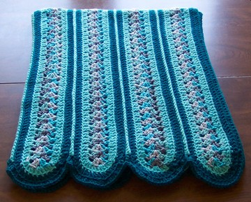 Mile a Minute Afghan - 3 Round Pattern