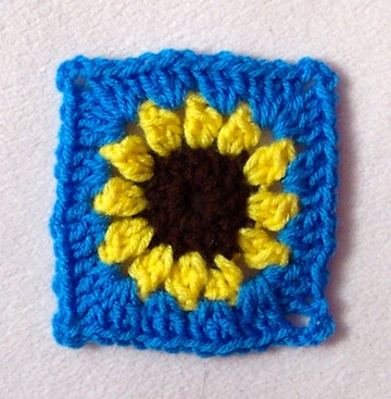 Crocheting Corners : Free Sunflower Granny Square Pattern