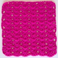 Double V Stitch Dishcloth